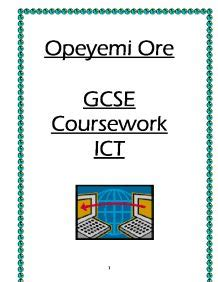 Example of the OCR coursework at A grade - Get Revising